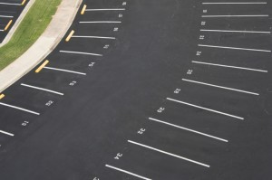 Parking lot paint striping